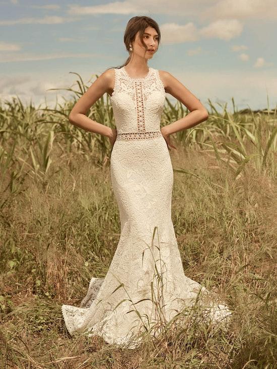 Rebecca Ingram Belinda Unique Keyhole Back Bridal Gown 21RK343 Alt1