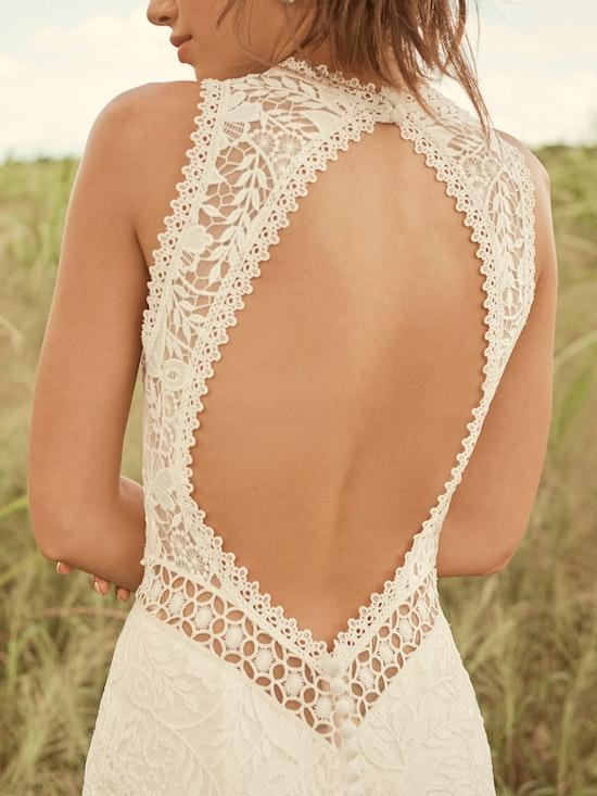 Rebecca Ingram Belinda Unique Keyhole Back Bridal Gown 21RK343 Alt2