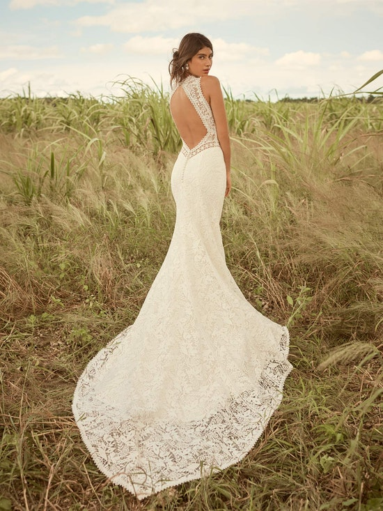 Rebecca Ingram Belinda Unique Keyhole Back Bridal Gown 21RK343 Alt3