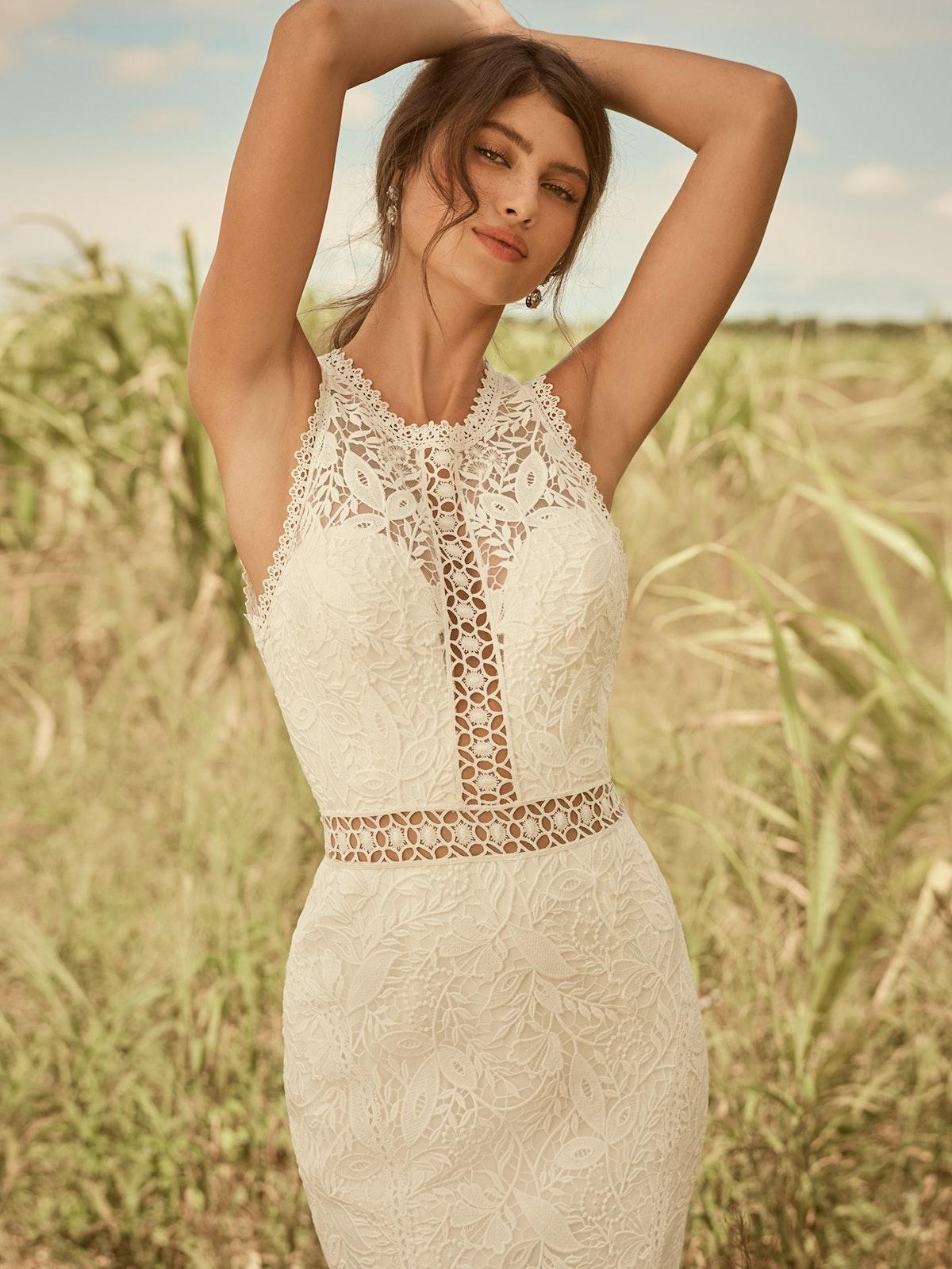 Rebecca Ingram Belinda Unique Keyhole Back Bridal Gown 21RK343 Main