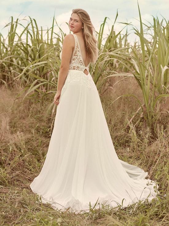 Rebecca Ingram Breanne Simple V-neck Chiffon Bridal Gown 21RS384 Alt3