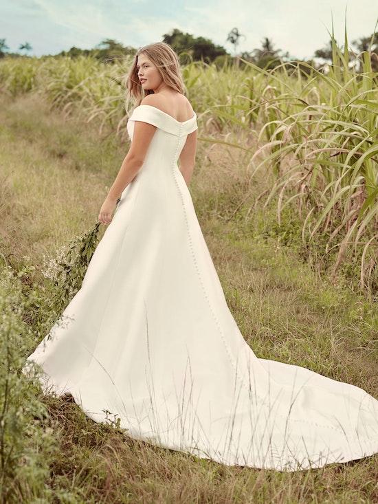 Rebecca Ingram Coral Mikado Off-the-Shoulder A-line Wedding Dress 21RT421 Alt2