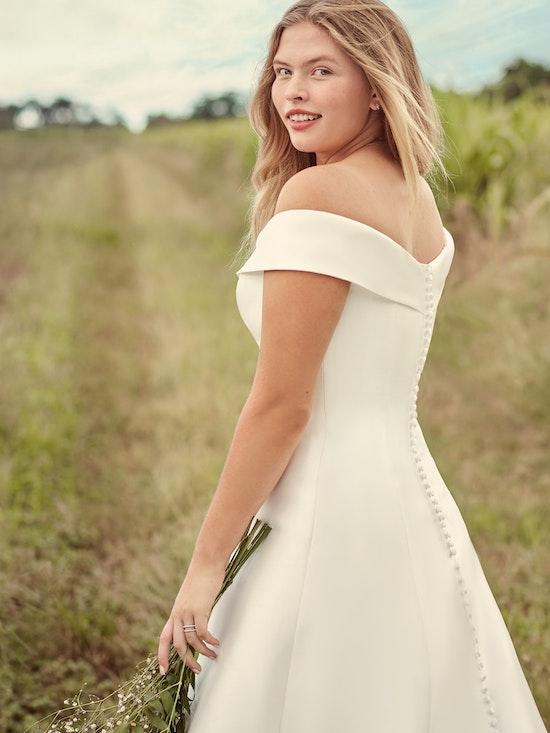 Rebecca Ingram Coral Mikado Off-the-Shoulder A-line Wedding Dress 21RT421 Alt3