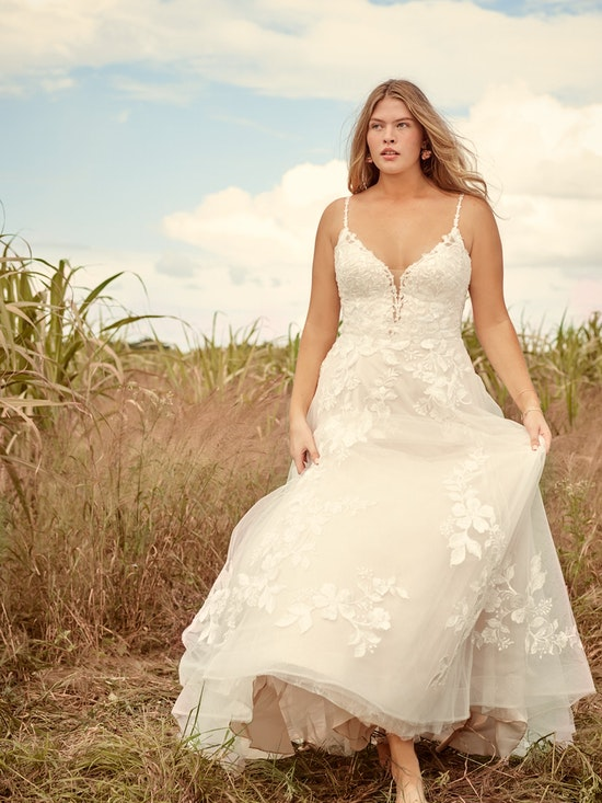 Rebecca Ingram Ellen Nature-Inspired Ball Gown Wedding Dress 21RC393 Alt1
