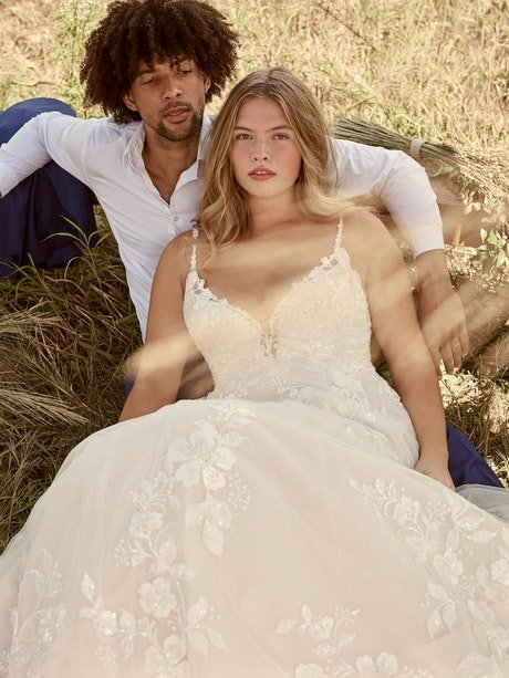 Rebecca Ingram Ellen Nature-Inspired Ball Gown Wedding Dress 21RC393 Main