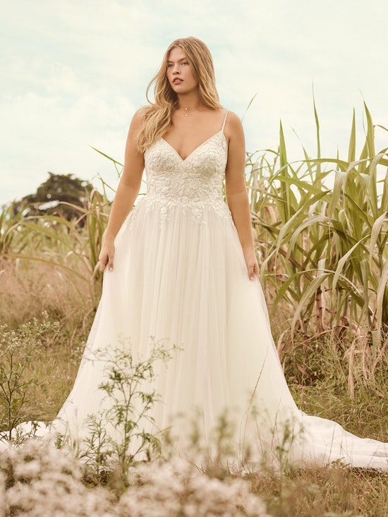 Rebecca Ingram Holly Simple Boho A-line Bridal Gown 21RK389 Alt1
