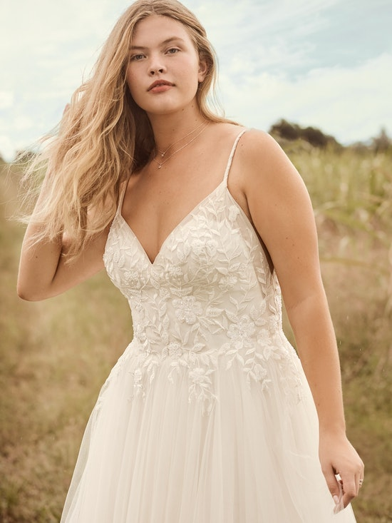 Rebecca Ingram Holly Simple Boho A-line Bridal Gown 21RK389 Alt2