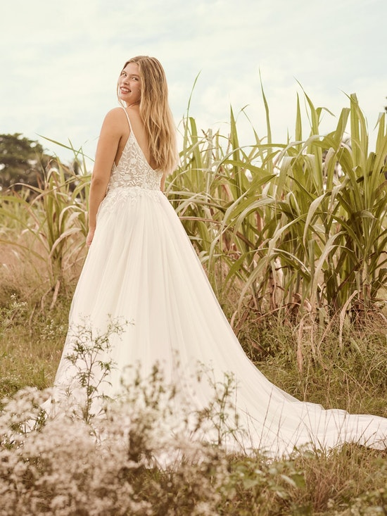 Rebecca Ingram Holly Simple Boho A-line Bridal Gown 21RK389 Alt3