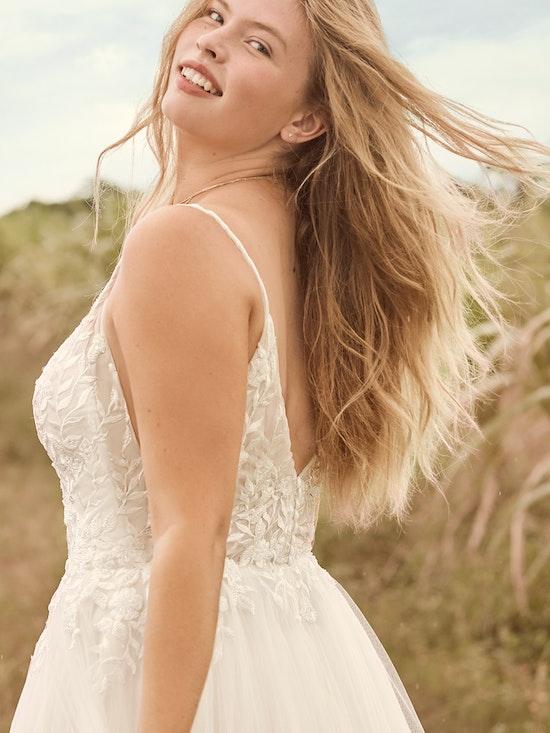Rebecca Ingram Holly Simple Boho A-line Bridal Gown 21RK389 Alt4