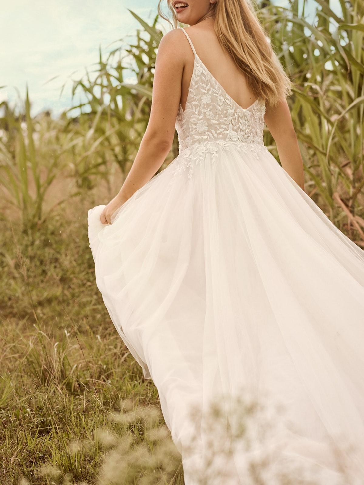 Rebecca Ingram Holly Simple Boho A-line Bridal Gown 21RK389 Main