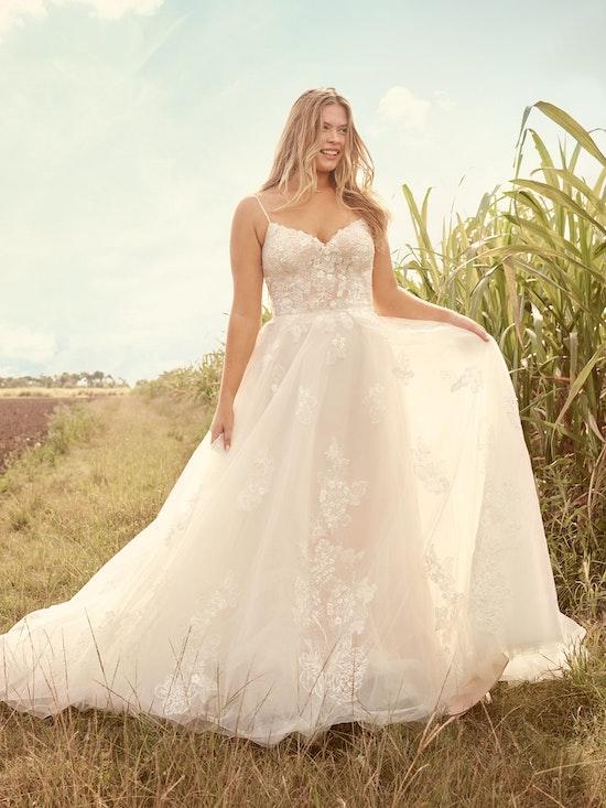 Rebecca Ingram Irene Floral Sweetheart A-line Wedding Dress 21RN398 Alt1