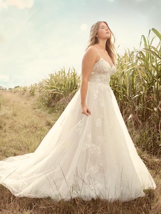 Rebecca Ingram Irene Floral Sweetheart A-line Wedding Dress 21RN398 Alt5