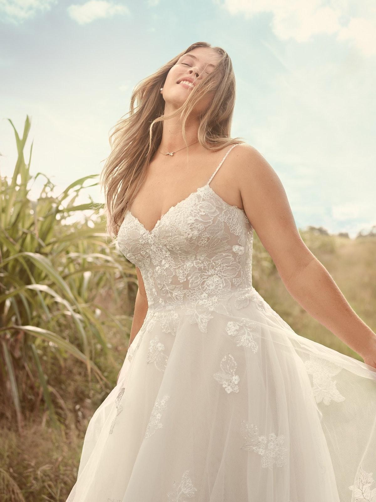 Rebecca Ingram Irene Floral Sweetheart A-line Wedding Dress 21RN398 Main