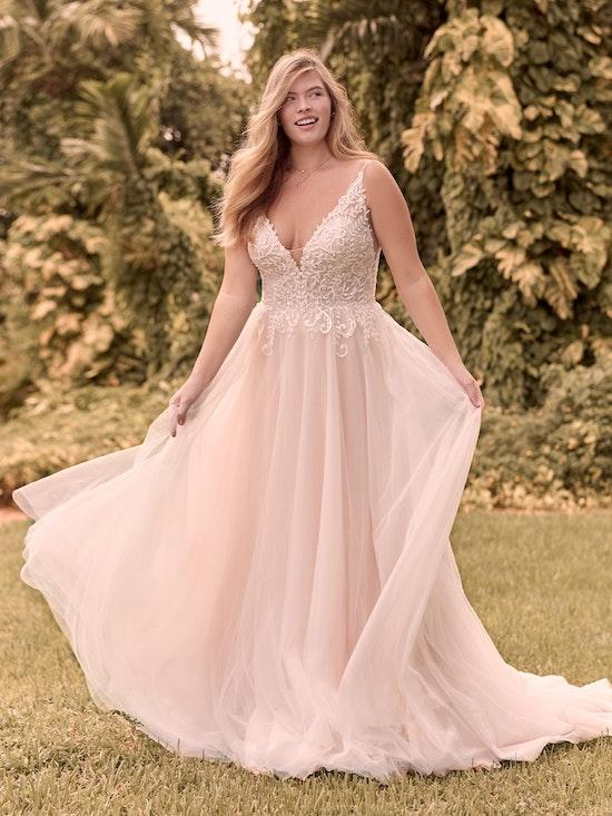 Rebecca Ingram Judy Affordable Lace A-line Bridal Dress 21RK361 Alt1