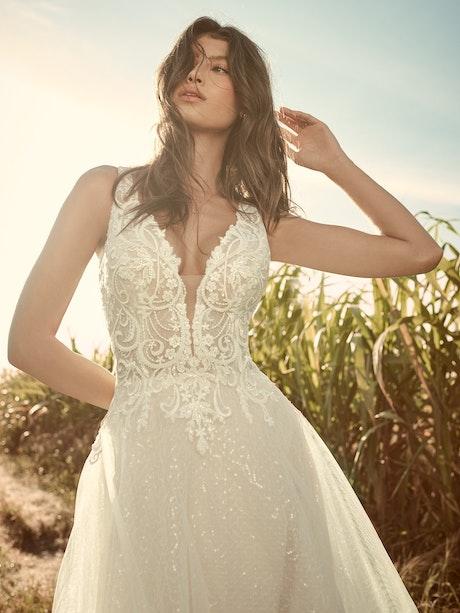 Rebecca Ingram Melissa Affordable Sparkly Ball Gown Wedding Dress 21RN388 Main