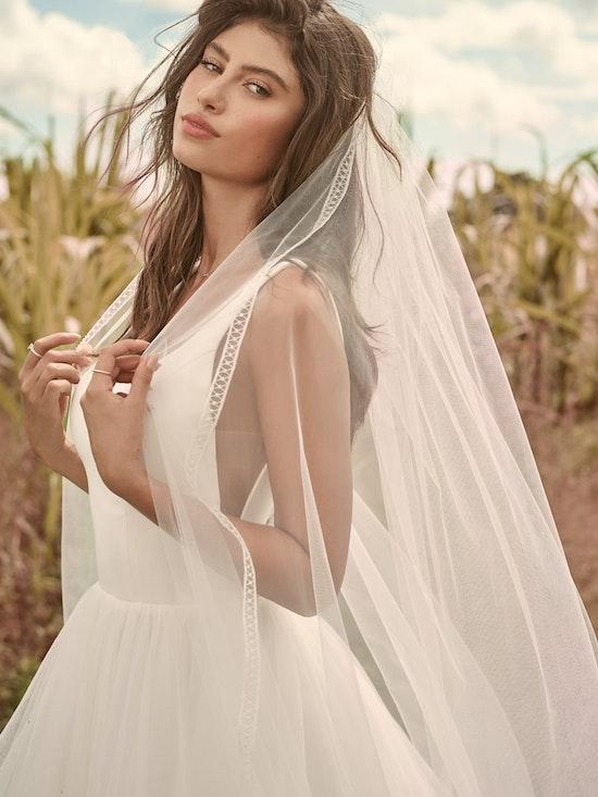 Rebecca Ingram Rosemary Minimalist Tiered Tulle Ball Gown Wedding Dress 21RW379 Alt3