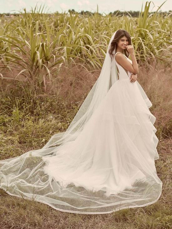 Rebecca Ingram Rosemary Minimalist Tiered Tulle Ball Gown Wedding Dress 21RW379 Alt5
