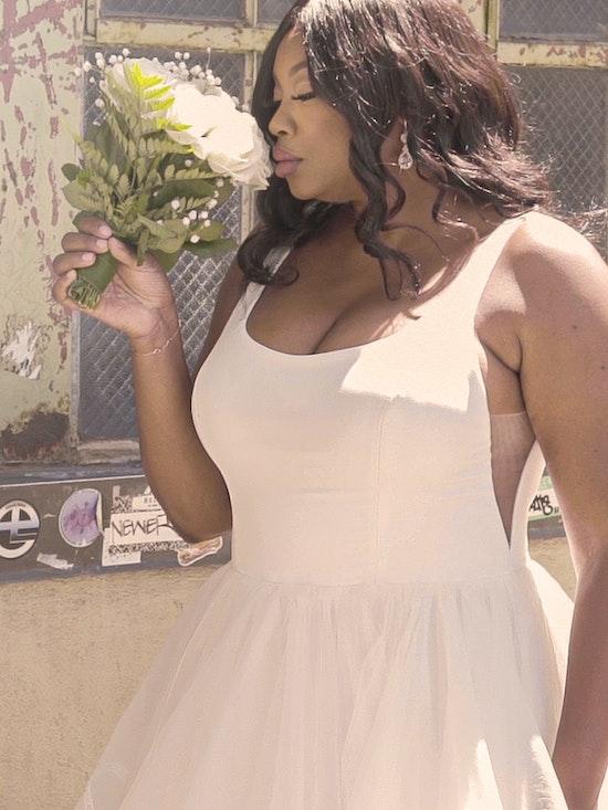 Rebecca Ingram Rosemary Minimalist Tiered Tulle Ball Gown Wedding Dress 21RW379 Curve-Alt10
