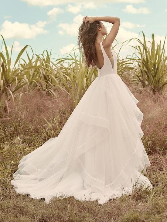 Rebecca Ingram Rosemary Minimalist Tiered Tulle Ball Gown Wedding Dress 21RW379 Main
