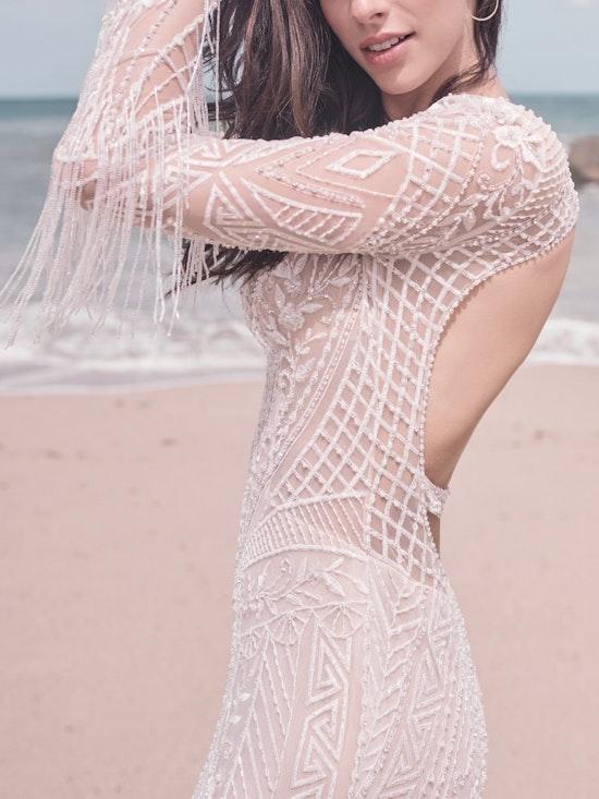 Sottero and Midgley Andrew Art Deco Beaded Sheath Wedding Dress 21SZ418 Alt10