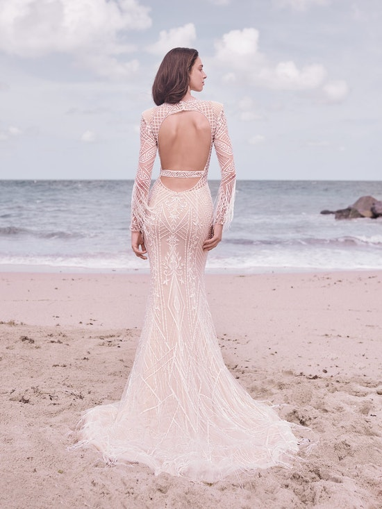 Sottero and Midgley Andrew Art Deco Beaded Sheath Wedding Dress 21SZ418 Alt5