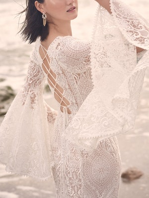 Sottero and Midgley Benson Vintage Lace Bell Sleeve Wedding Dress 21SC360 Alt2