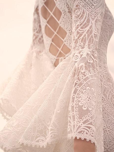 Sottero and Midgley Benson Vintage Lace Bell Sleeve Wedding Dress 21SC360 Main