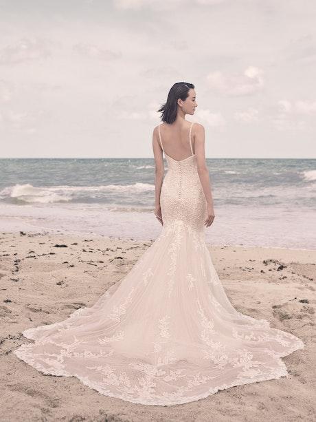 Sottero and Midgley Bryan Sparkly Floral Sheath Wedding Gown 21SS348 Alt4