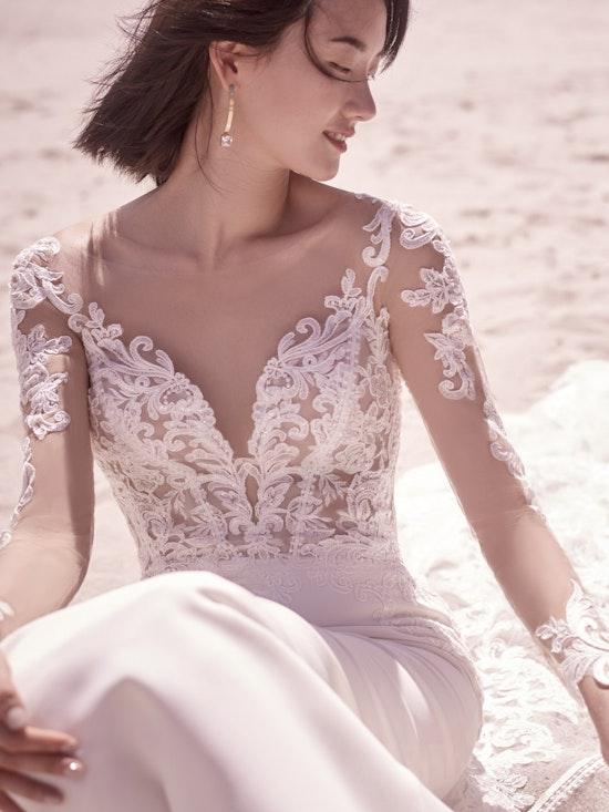 Sottero and Midgley Cambridge Dawn Elegant Sleeved Wedding Dress 21SW340 Alt1