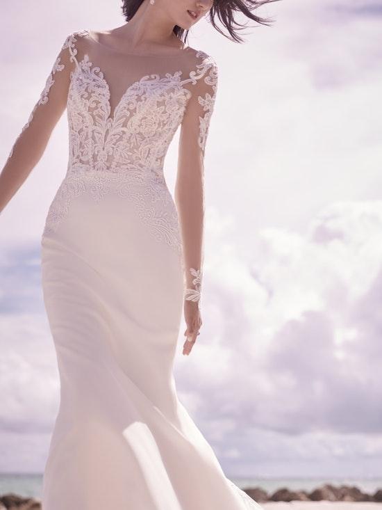 Sottero and Midgley Cambridge Dawn Elegant Sleeved Wedding Dress 21SW340 Alt2