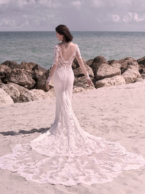 Sottero and Midgley Cambridge Dawn Elegant Sleeved Wedding Dress 21SW340 Alt3