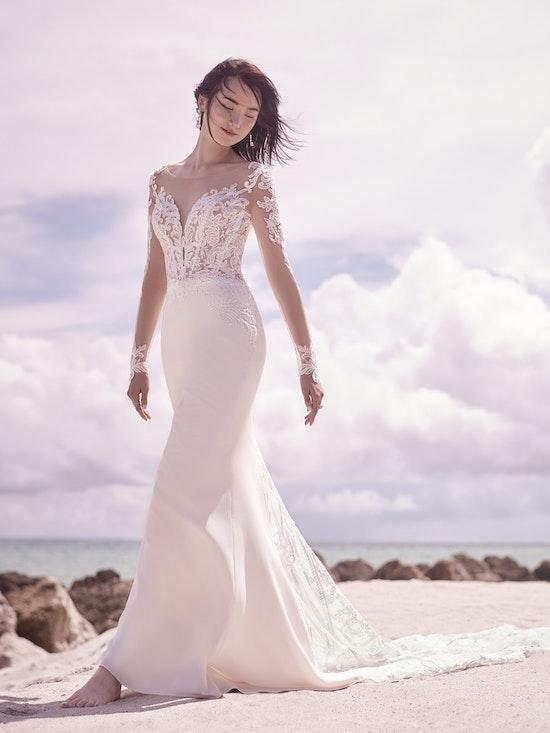 Sottero and Midgley Cambridge Dawn Elegant Sleeved Wedding Dress 21SW340 Alt4