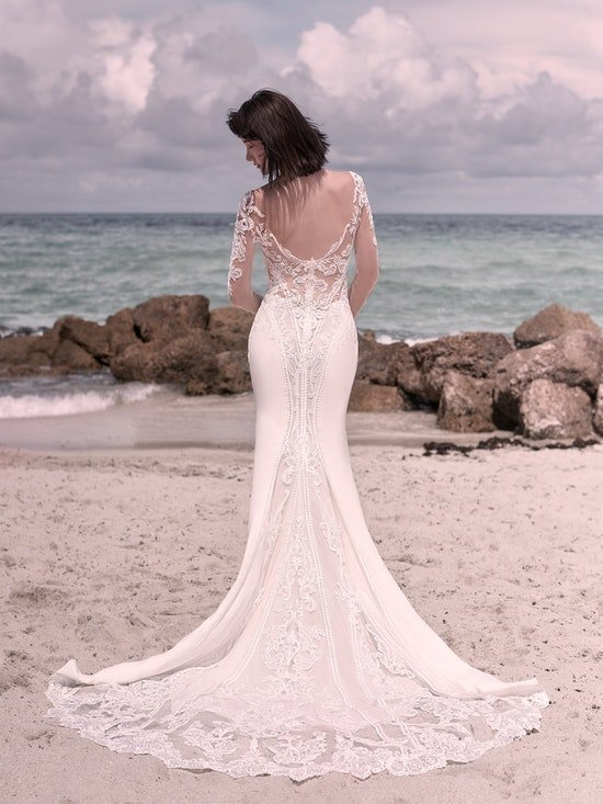 Sottero and Midgley Cambridge Dawn Elegant Sleeved Wedding Dress 21SW340 Alt5