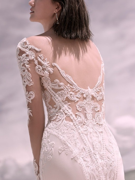 Sottero and Midgley Cambridge Dawn Elegant Sleeved Wedding Dress 21SW340 Alt6