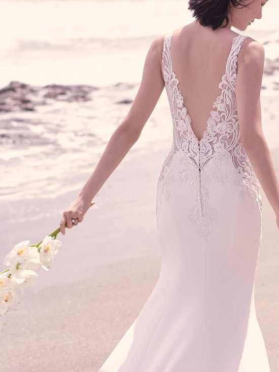 Sottero and Midgley Dean Sexy V-back Crepe Bridal Gown 21SW339 Alt5