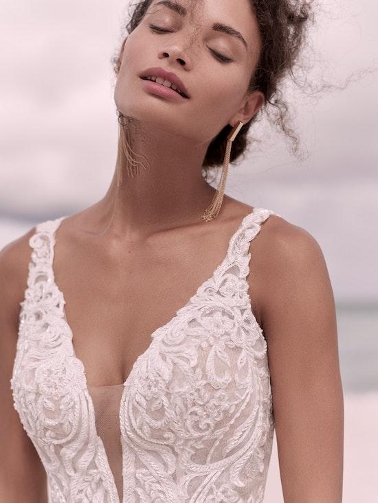 Sottero and Midgley Hamilton Elegant Lace Sheath Bridal Dress 21SS355 Alt4