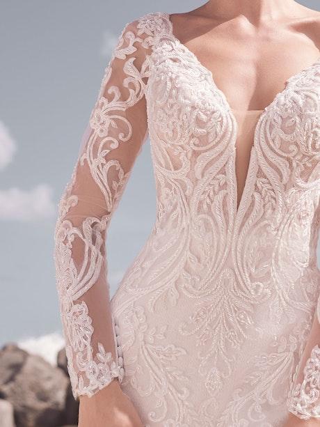 Sottero and Midgley Hamilton Elegant Lace Sheath Bridal Dress 21SS355 Alt5