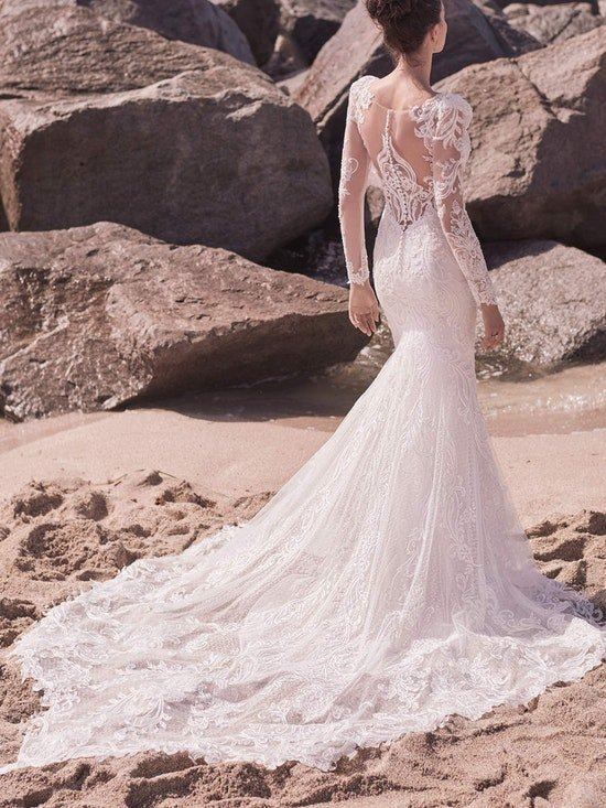 Sottero and Midgley Hamilton Elegant Lace Sheath Bridal Dress 21SS355 Alt6