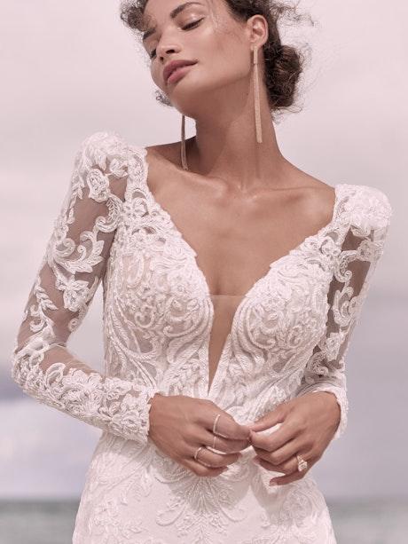 Sottero and Midgley Hamilton Elegant Lace Sheath Bridal Dress 21SS355 Alt7