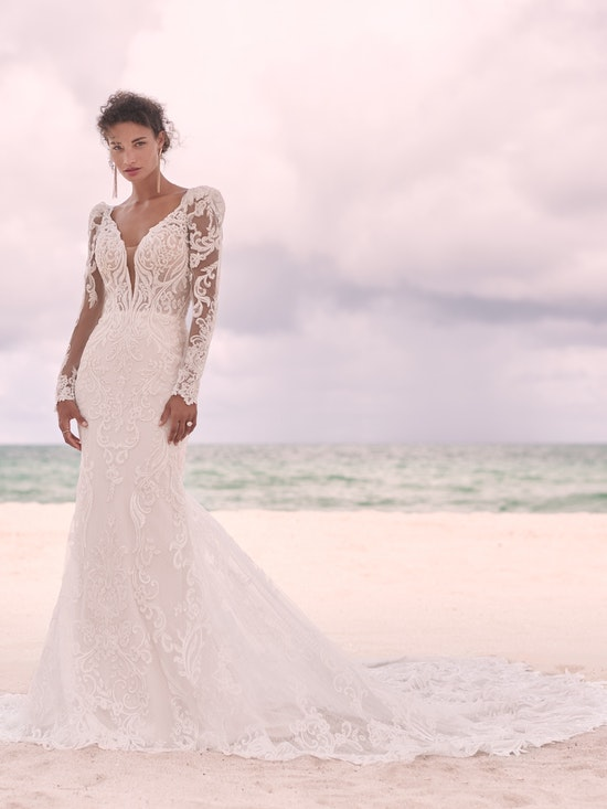 Sottero and Midgley Hamilton Elegant Lace Sheath Bridal Dress 21SS355 Alt8