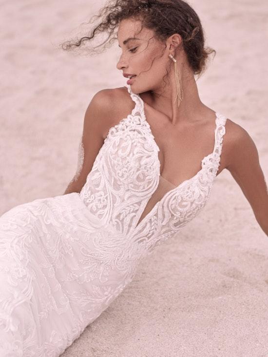 Sottero and Midgley Hamilton Elegant Lace Sheath Bridal Dress 21SS355 Alt9