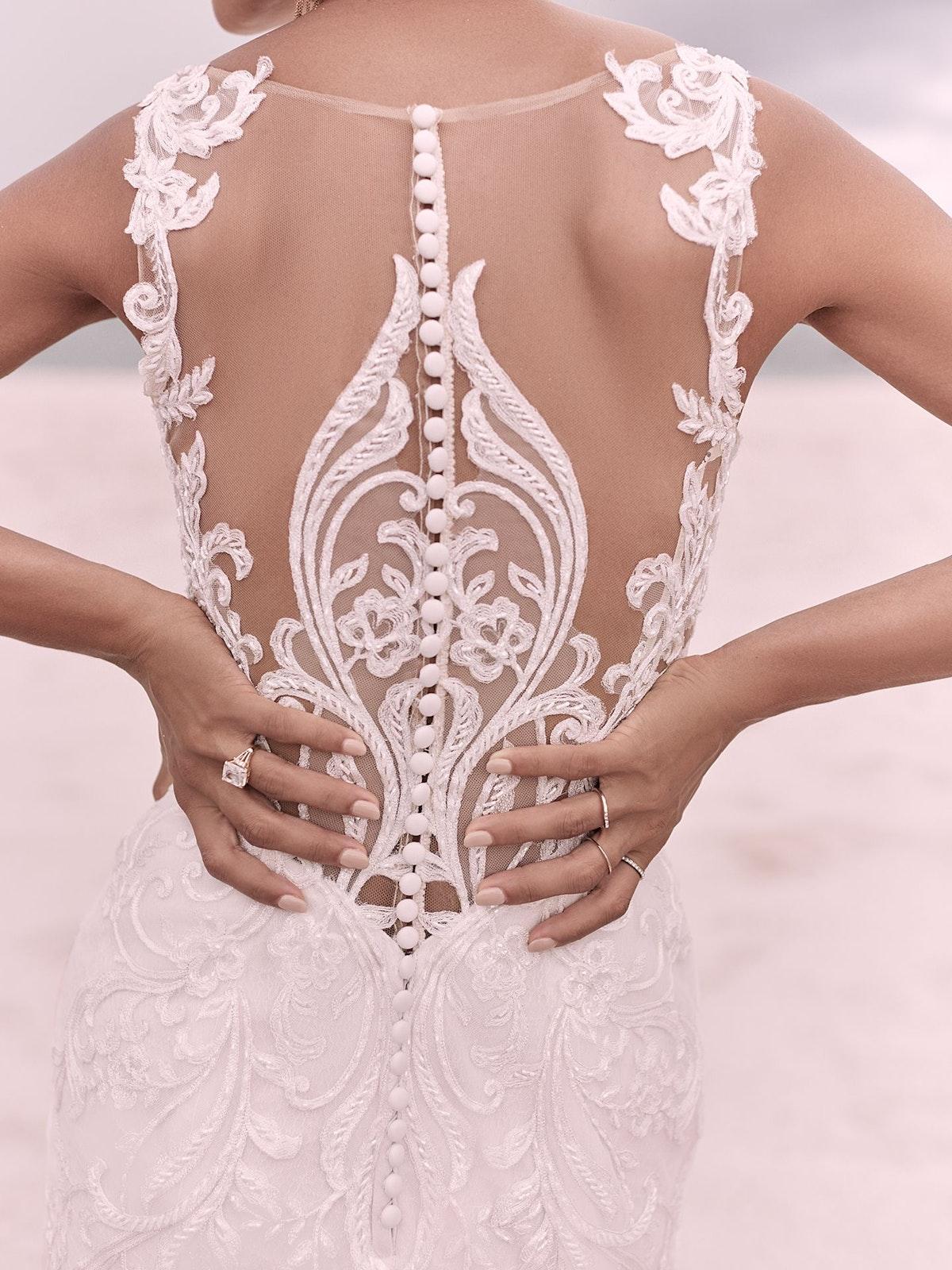 Sottero and Midgley Hamilton Elegant Lace Sheath Bridal Dress 21SS355 Main