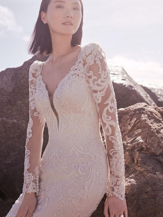 Sottero and Midgley Hamilton Lynette Elegant Plus-Size Sheath Wedding Dress 21SS355B Alt10