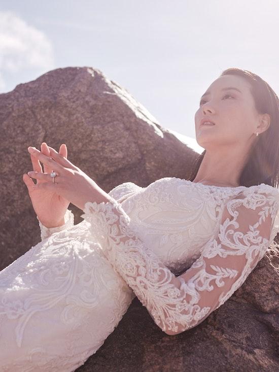Sottero and Midgley Hamilton Lynette Elegant Plus-Size Sheath Wedding Dress 21SS355B Alt11