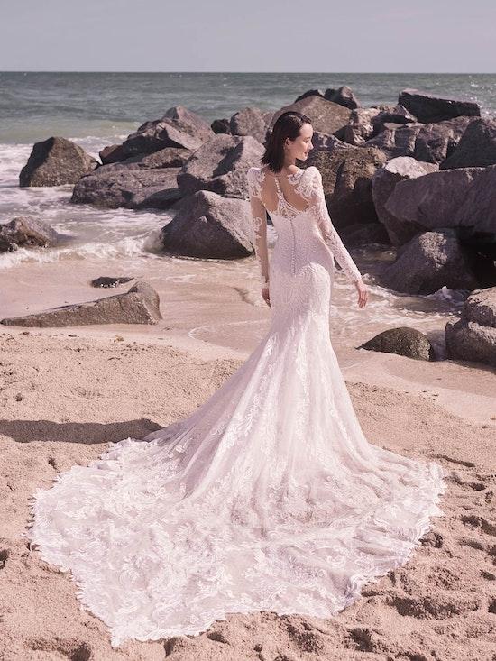 Sottero and Midgley Hamilton Lynette Elegant Plus-Size Sheath Wedding Dress 21SS355B Alt12