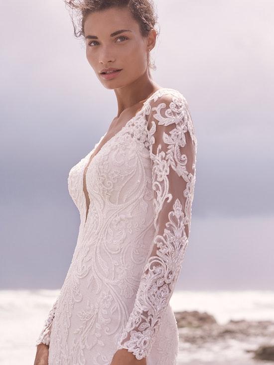 Sottero and Midgley Hamilton Lynette Elegant Plus-Size Sheath Wedding Dress 21SS355B Alt1