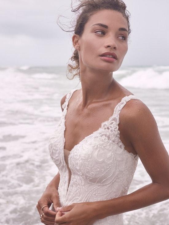 Sottero and Midgley Hamilton Lynette Elegant Plus-Size Sheath Wedding Dress 21SS355B Alt3