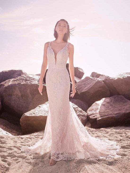 Sottero and Midgley Hamilton Lynette Elegant Plus-Size Sheath Wedding Dress 21SS355B Alt4