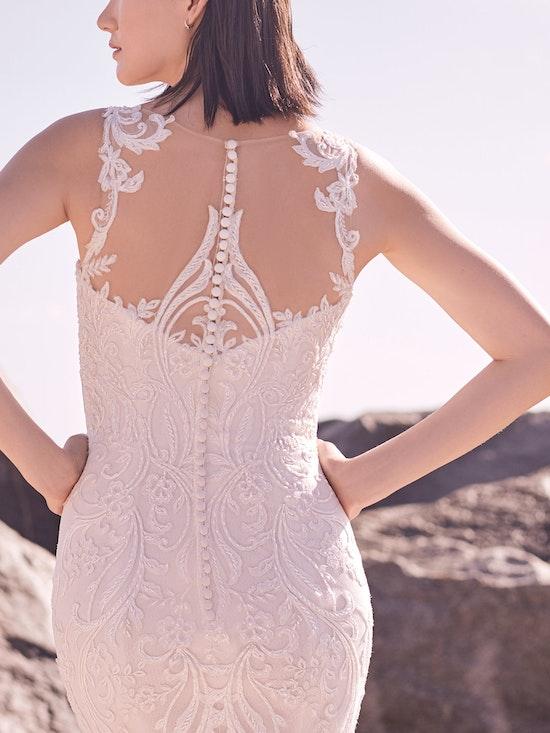 Sottero and Midgley Hamilton Lynette Elegant Plus-Size Sheath Wedding Dress 21SS355B Alt5