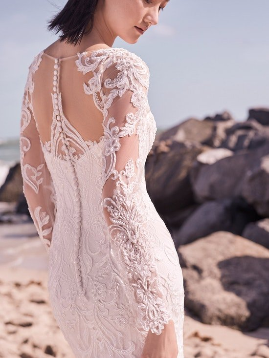 Sottero and Midgley Hamilton Lynette Elegant Plus-Size Sheath Wedding Dress 21SS355B Alt7